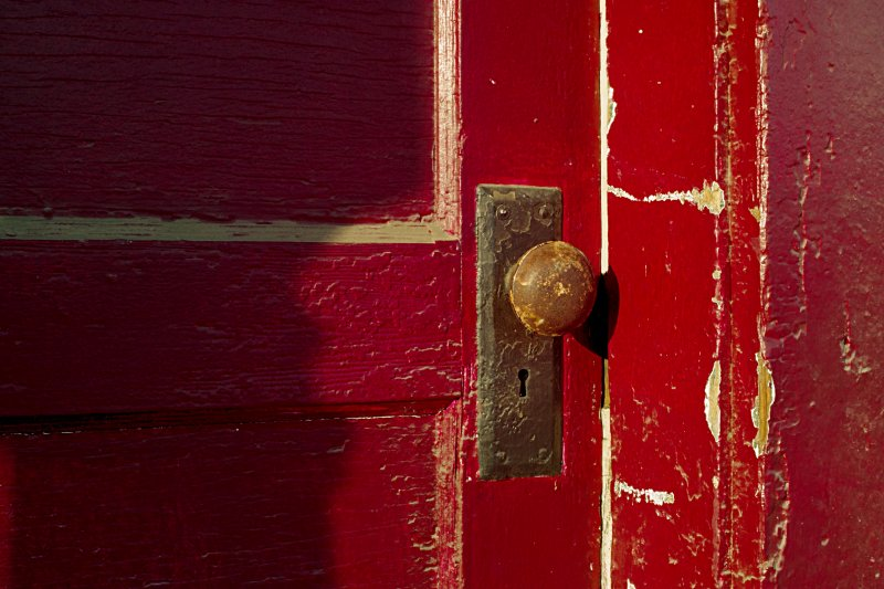 Red Door in Waterfall, VA, old general store and post office