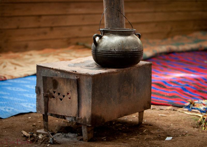 Heat Source Inside a Berber Nomad Tent