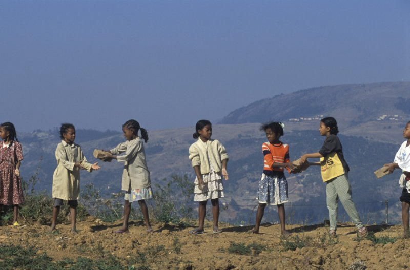 Building their own school, Fianarantsoa