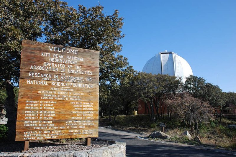 WE HAD ARRIVED AT THE WORLD FAMOUS KITT NATIONAL OBSERVATORY