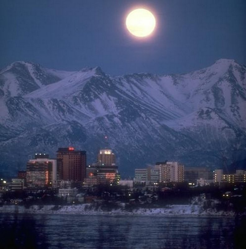 ANCHORAGE BY NIGHT-IT NEVER GETS COMPLETELY DARK..