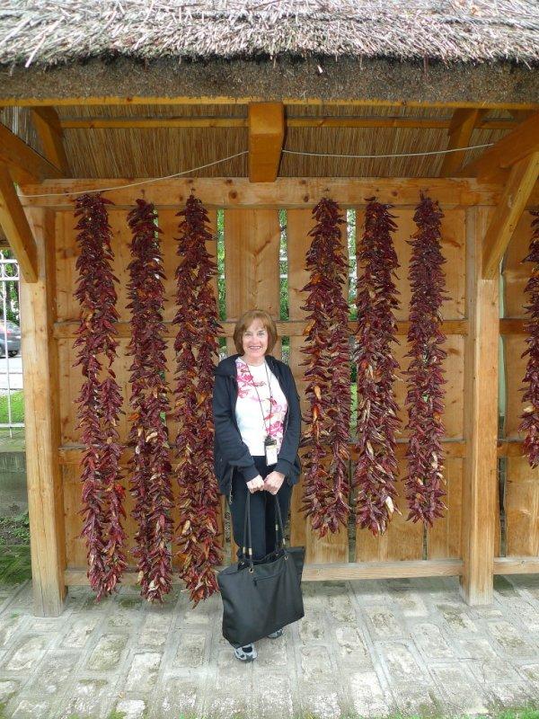 Susan at the Paprika Museum in Kalocsa