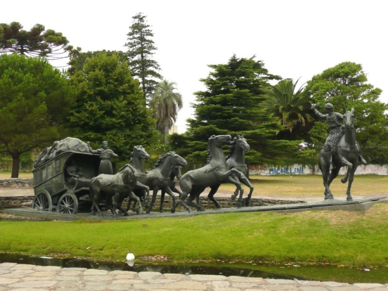 La Diligencia is a Tribute to the Early Settlers of Uruguay