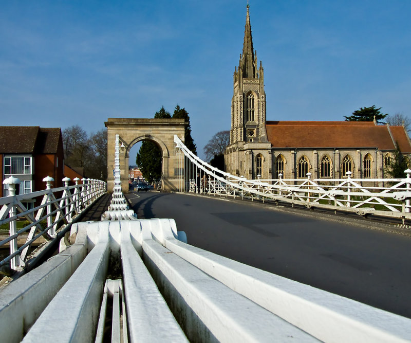 Marlow suspension bridge