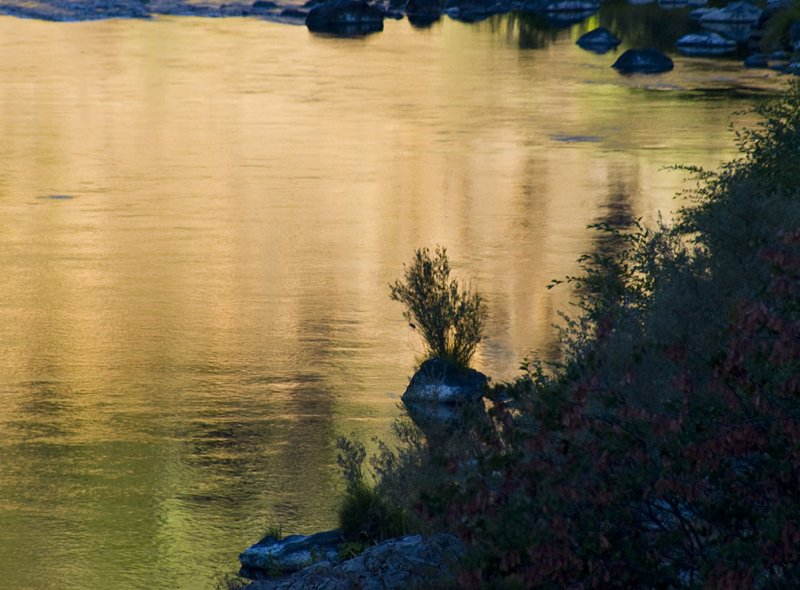 <B>Golden Morning</B> <BR><FONT SIZE=2>Trinity River, August, 2007</FONT>