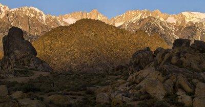 <B>Mt. Whitney Morning</B> <BR><FONT SIZE=2>Lone Pine, California - April 2008</FONT>