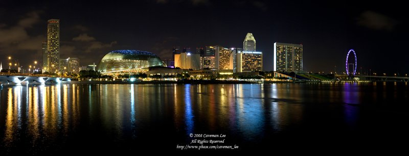 A night scene in Singapore