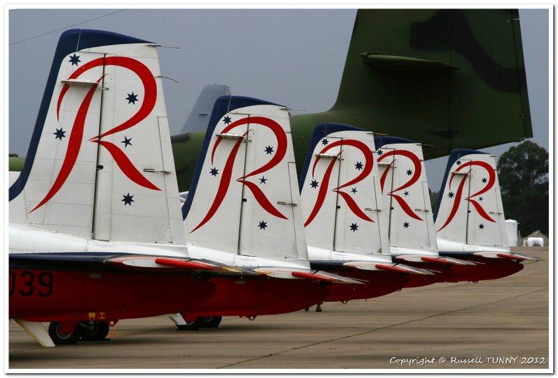 RAAF Roulettes Pilatus Trainer
