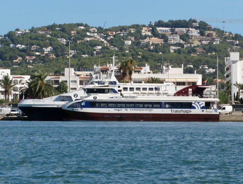 Cala Saona with Formentera Jet behind - Seen at Ibiza 2010