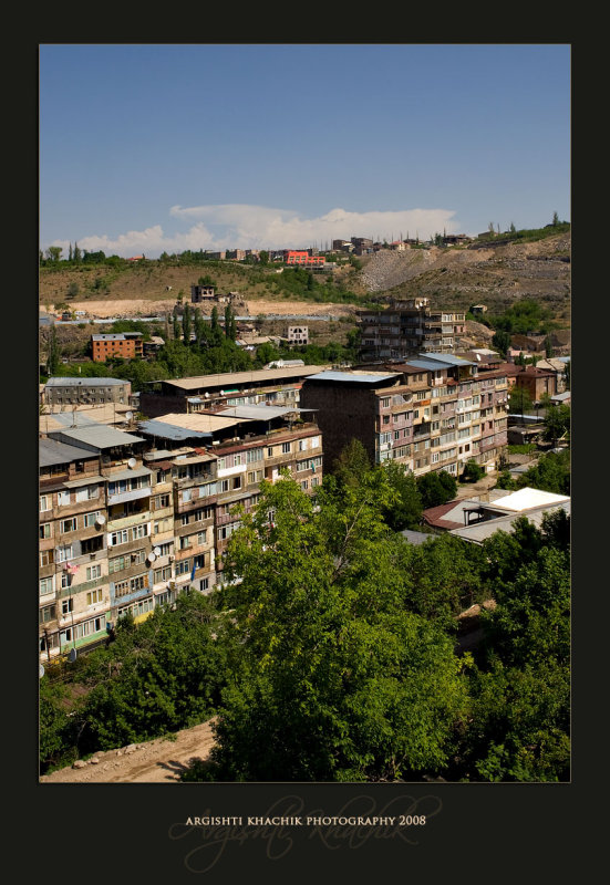 The view out of my cousins balcony (Yerevan)