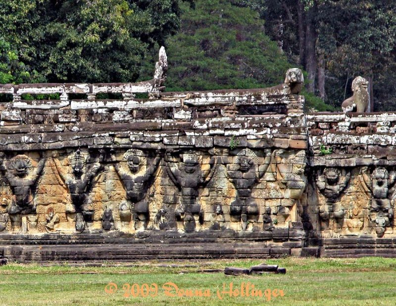 Wonderful Stonework At Angkor Wat