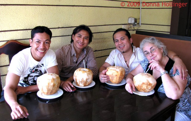 Coconuts! Sethi, Polin, Tony and Carolyn