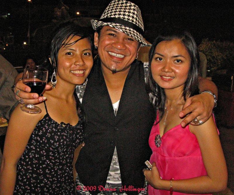 Three Actors Celebrating