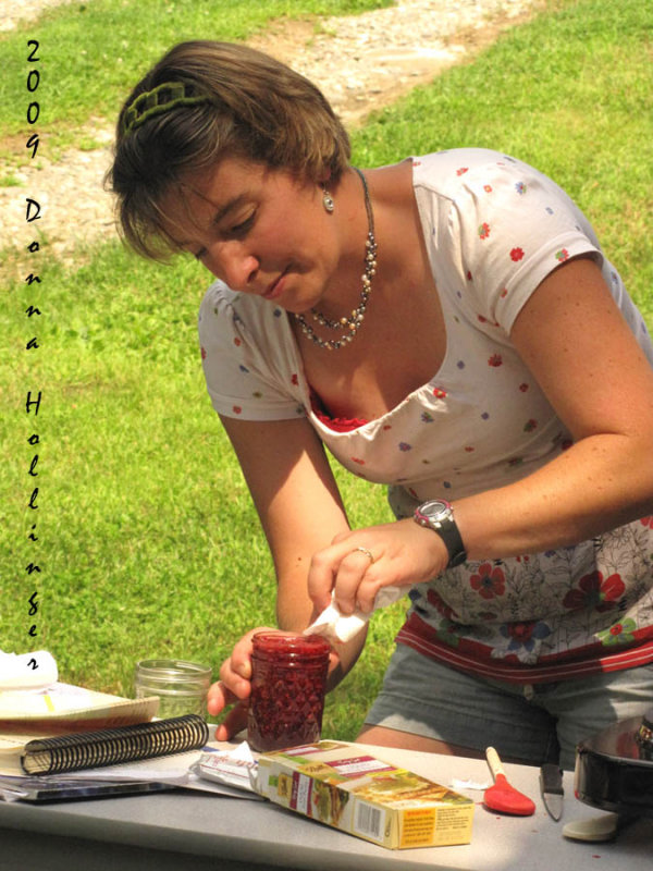 Tina Making Raspberry Jam