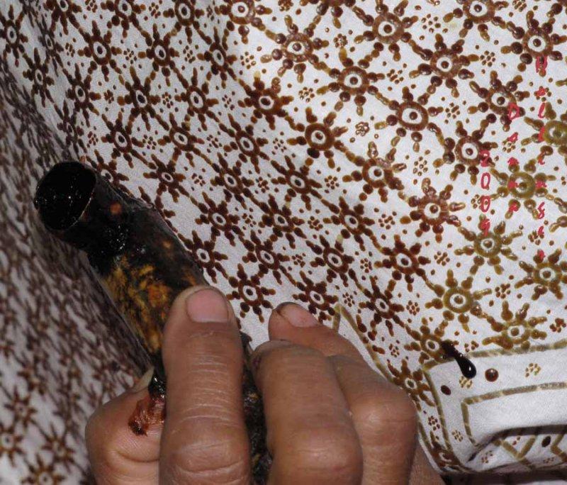 Closeup of Batik Technique