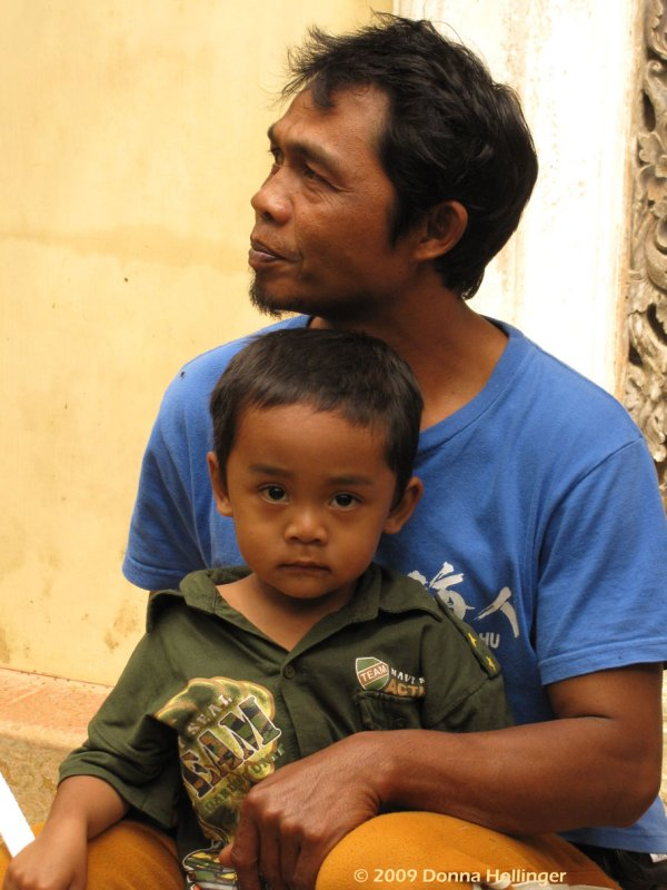 Balinese Farmer and His Son