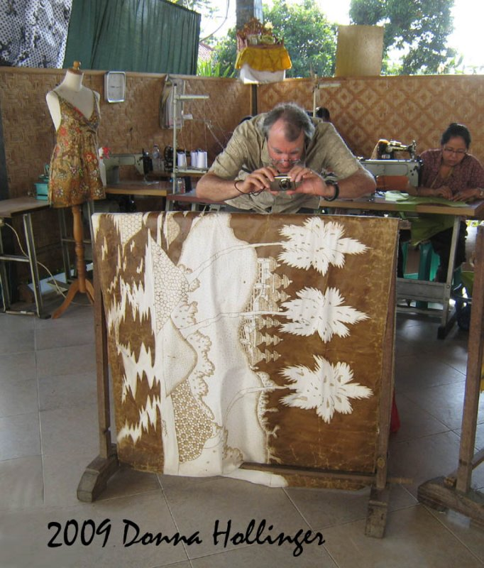 Peter Photographing a Batik Cloth