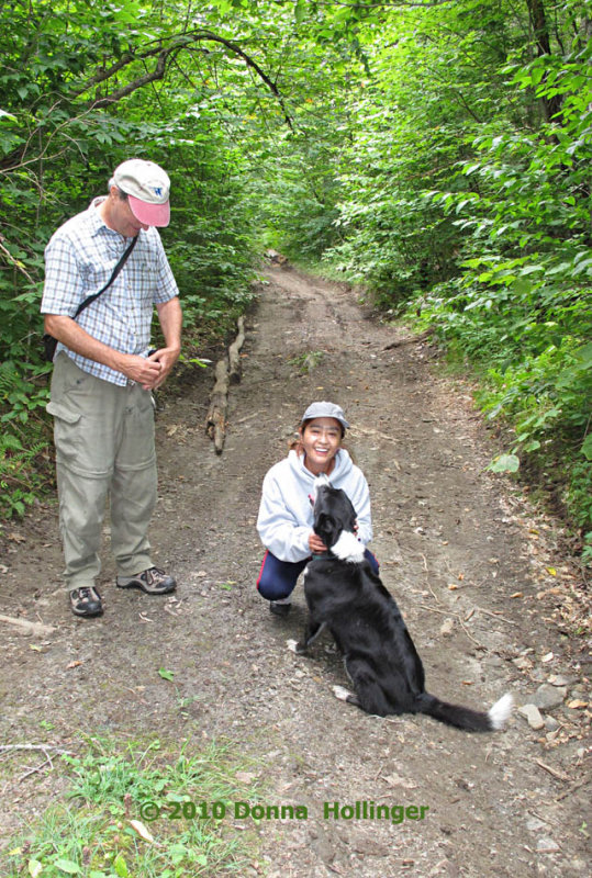 Peter, Mikyo and Banjo Today, Out For A Walk