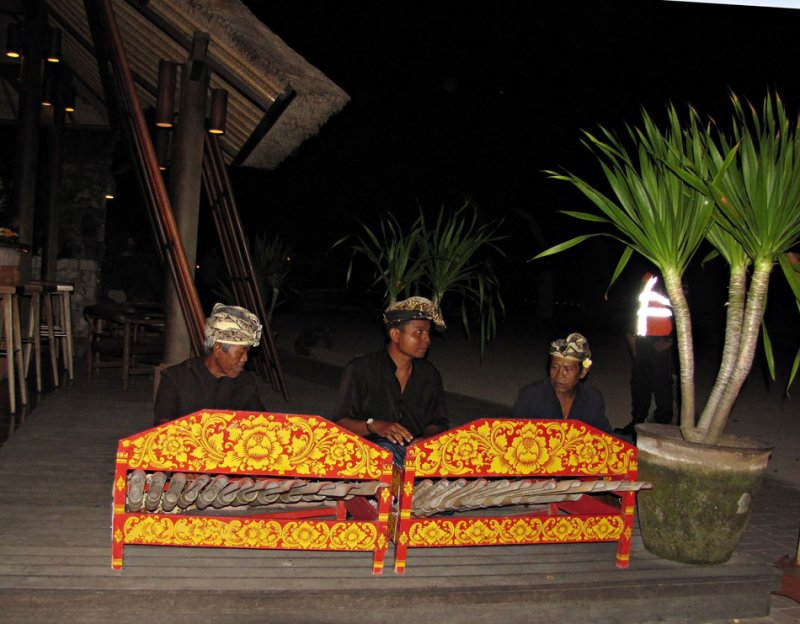 Gamelan players at a Dance Performance