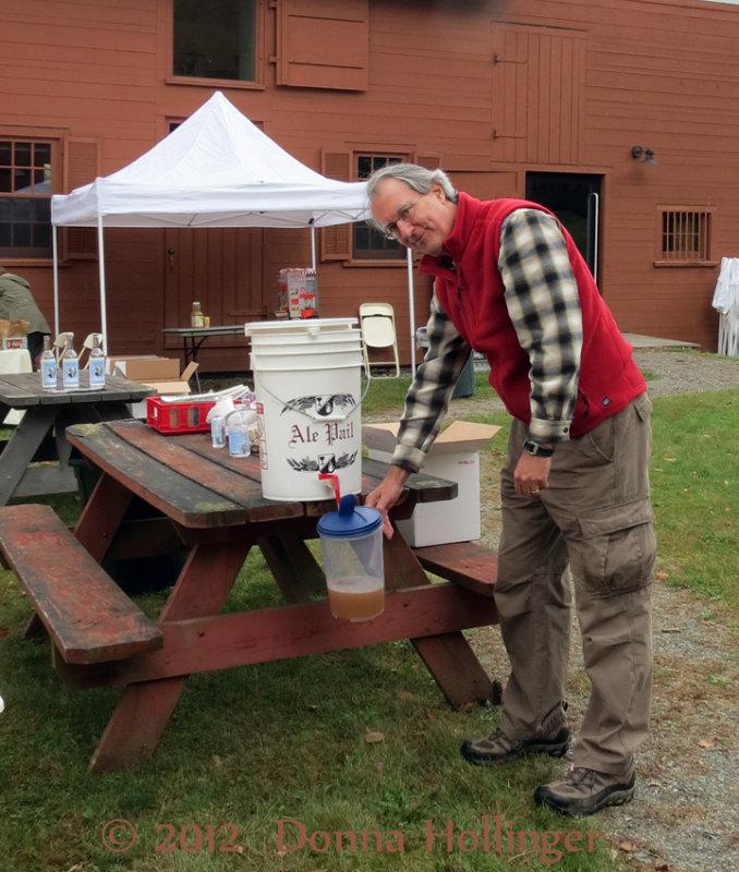 Peter Filling Cider Jug