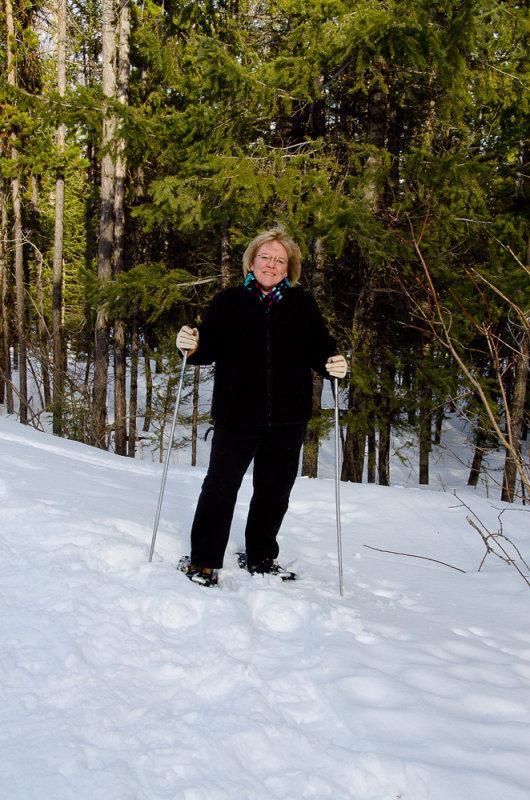 Me, Linda, Snowshoeing