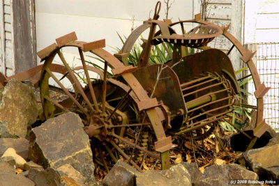 Horse drawn beet or potato harvester