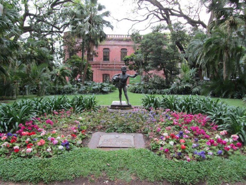the entrance to the Buenos Aires botanical garden...