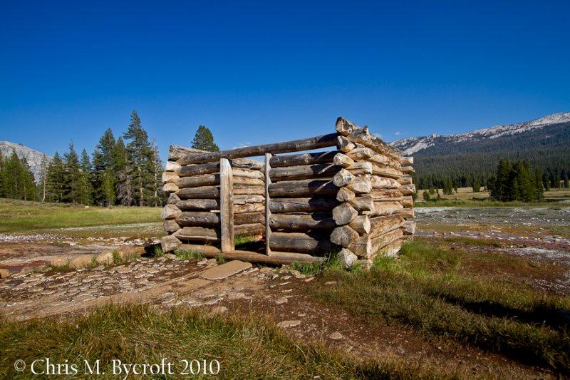 Old log cabin, Soda Springs, Tuolumne Meadow