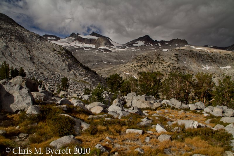 View of Mt Lyell, before heading to Donohue Pass