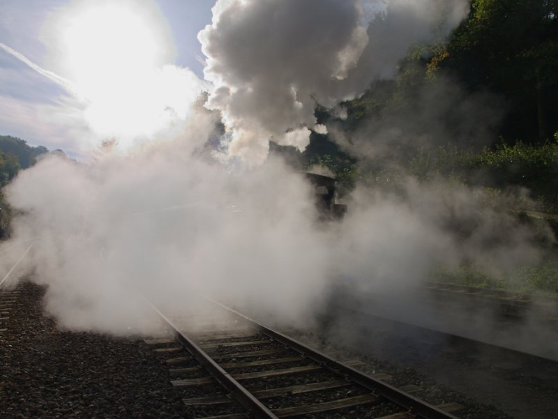 Lots of steam & smoke