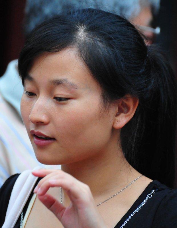 Girl in Shanghais Ancient City Park 2