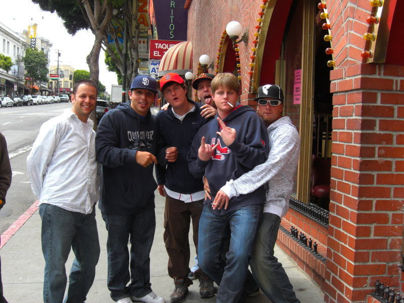 Bachelor Party; in front of The Condor in North Beach