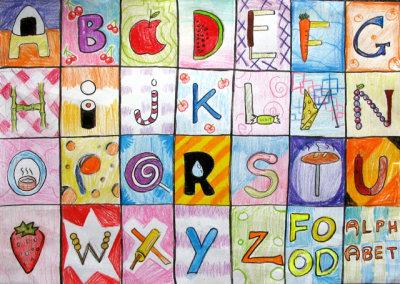Food Alphabet, Christy, age:13