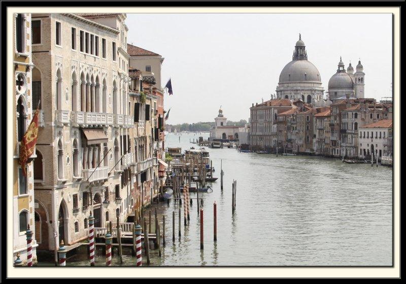 The Grand Canal down to Chiesa di Santa Maria Della Salute (detail)