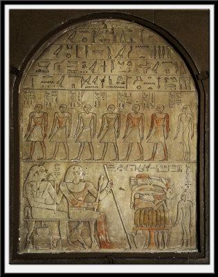 Memorial Tablet (Stele) of Renu and his wife Dedet