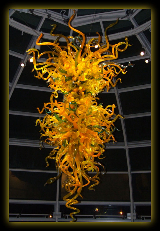 Chihuly Chandelier at Phipps Conservatory Entrance