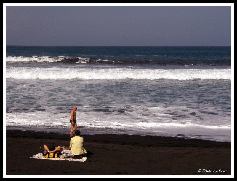 pax on beach