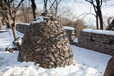 A pile of stones at Namsan