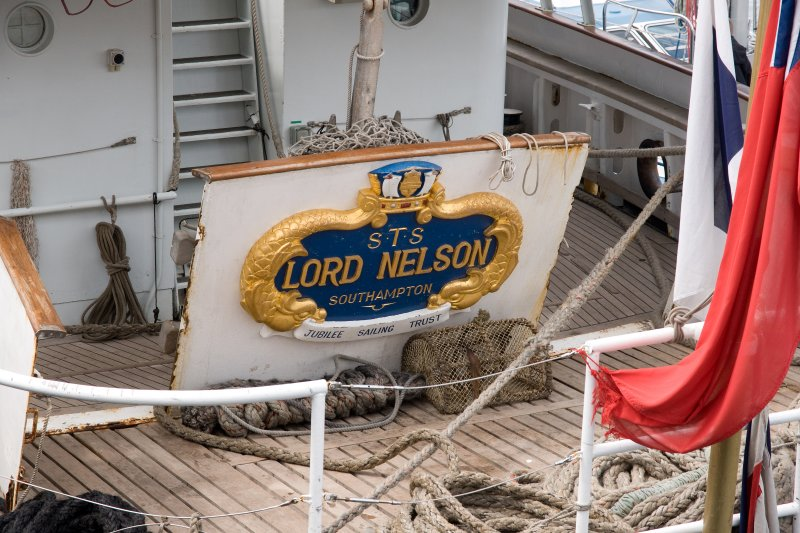 New to Belfast this year - the STS Lord Nelson