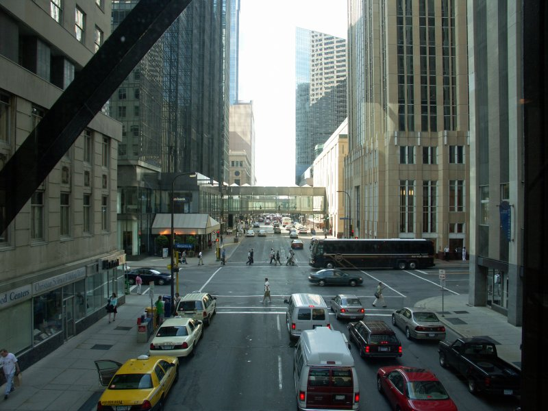 Street scene with another Skyway