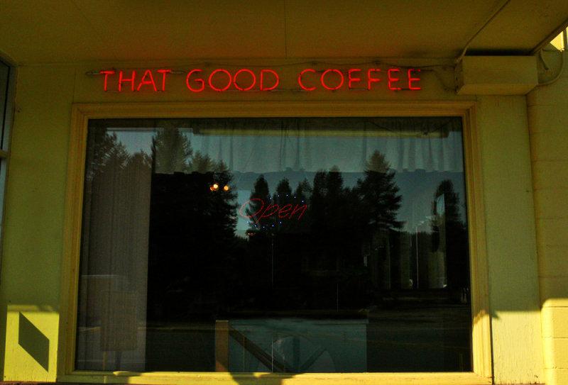That good coffee, Chemult, Oregon, 2008