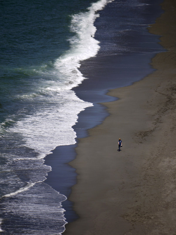 Alone, Trinidad Beach, Patrick's Point State Park, Trinidad, California, 2009