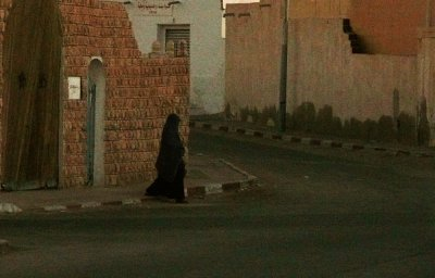 Woman in black, Douze, Tunisia, 2008