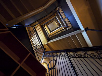 Stairwell, State Capitol Museum, Phoenix, Arizona, 2009