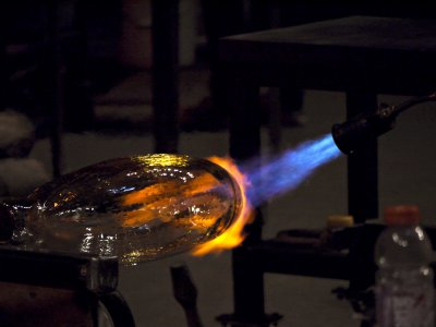 Hot glass, Museum of Glass, Tacoma, Washington, 2009