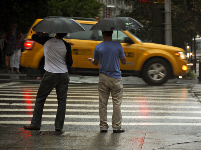 How hard the rain? New York City, New York, 2009