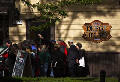 """""""I'm over here,"""" Depot, Durango, Colorado, 2010"""