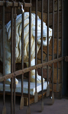 Marble lion, Santa Fe, New Mexico, 2010
