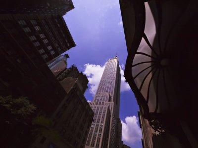 Contrasting eras, New York City, New York, 2010