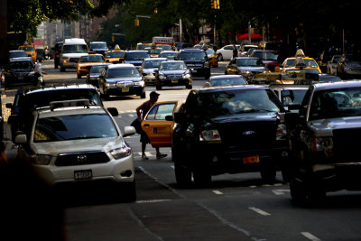 Finding a taxi, New York City, New York, 2010